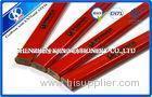 Red Octagonal Wooden Carpenter Pencil / Art Pencil Set Customized Logo