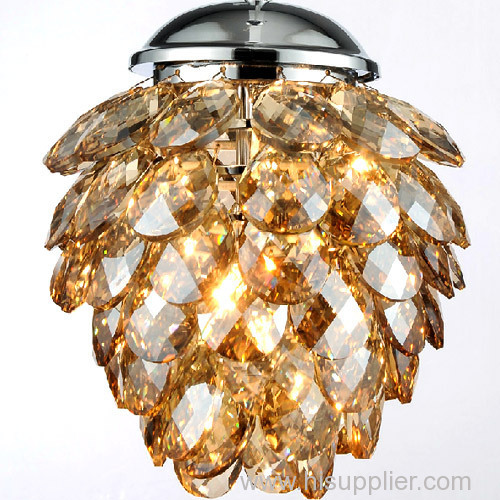 Post modern luxury LED crystal pendant lighting fixtures