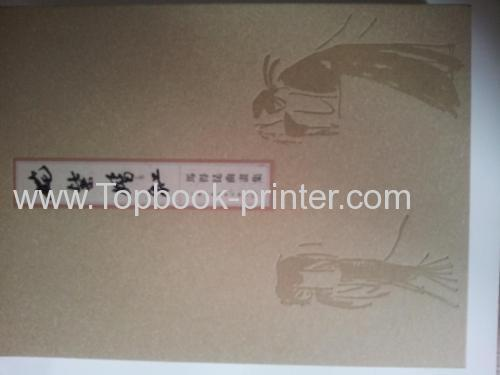embossing specialty paper hardcover or hardbound book with case from