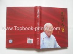 Stampante libro serigrafato copertina rigida rotonda-back stampaggio oro
