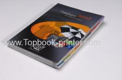 Special die cutting UV varnishing gloss lamination perfect bound apparel catalogue book