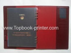 Debossing hot-stamped leather cover wire-binding hardcover book