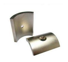 Neodymium NdFeB Permanent Magnet Segment wiht hole