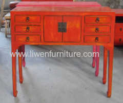 Altar table in red
