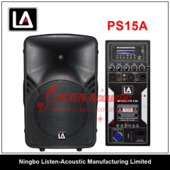 15 inch ABS 2-way full range speaker box with digital amplifier PS15 / 15A