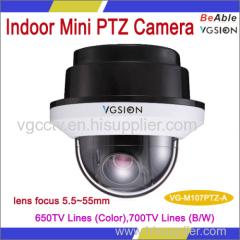 Super high Resulotion 3 inch mini indoor ptz camera