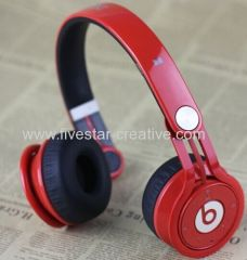 Monster Beats by Dr.Dre Mixr Bluetooth Wireless High Performance Headphones red