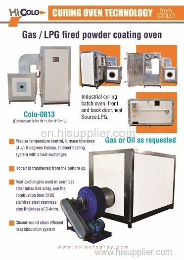 curing oven for powder coating cataloge