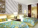 Colorful Graffiti Fiber 3D Wall Coverings Interior Wall Paneling 3D Tiles for KTV , Club , Hotel
