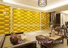 Empaistic 3D Home Decal Natural Fiber Wallpaper , Modern Colored 3D Wall Sticker