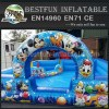 Inflatable colorful soft play ball pit for children