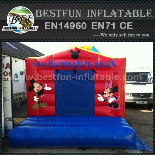 2015 cheap micky mouse inflatable bouncer