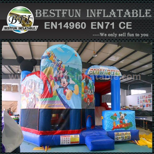 Cute MicKey Inflatable Bouncer combo play house