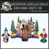 Happy Christmas Inflatable Bouncer House