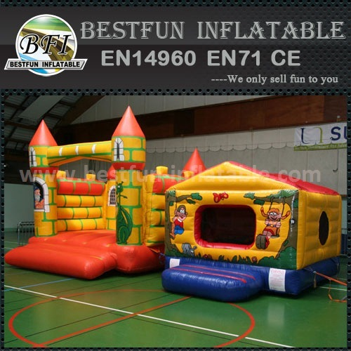 Yellow Colour Inflatable Bouncer Castle