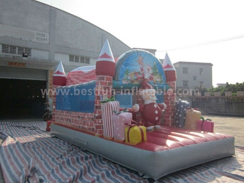 Santa claus christmas merry inflatable bouncer