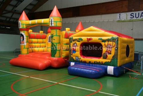 Popular yellow commercial inflatable bouncers for sale