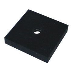 Rare Earth Neodymium Block Magnet N45 31 x 31 x 6mm With a D10mm Hole in the Center Black Rubber Coated