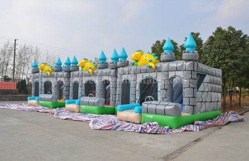 Chinese Dragon Themed Inflatable Bouncing Castle