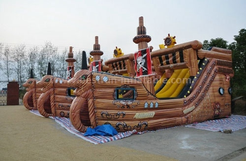 Commercial portable Bouncer Inflatable Slide Pirate Ship Inflatable Slide