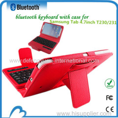 Hot sale detachable magnetic Super quality bluetooth keyboard for Samsung Tab 4.7inch T230/T231
