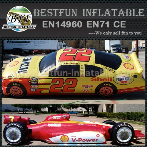 Advertising inflatable racing car model