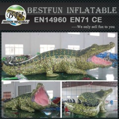 Inflatable crocodile for advertising