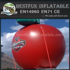 PVC inflatable apple model for deconation