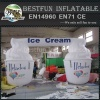 Inflatable ice cream model in hot summer