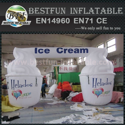 Custom printed inflatable ice cream model for promotion