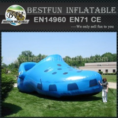 PVC giant blue inflatable CROCS shoes