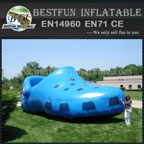 PVC giant blue inflatable CROCS shoes