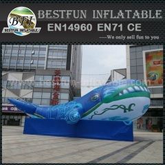 Inflatable whale model for event