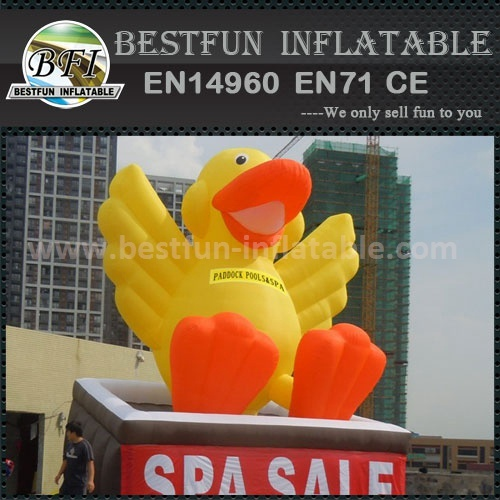 Vivid yellow airtight giant inflatable promotion duck
