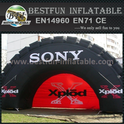 Inflatable advertising tire with logo