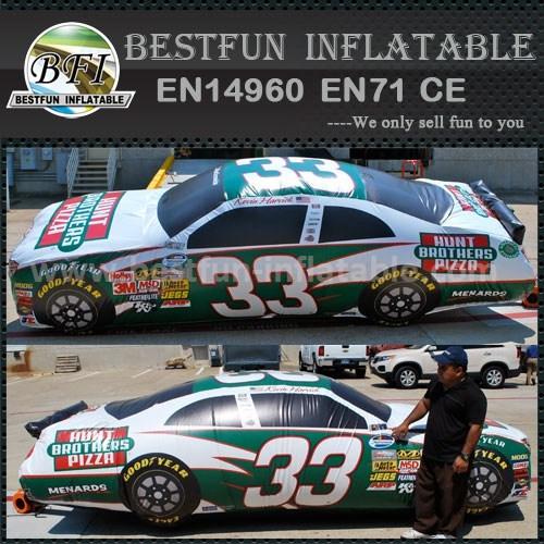 Inflatable digital printing racing car