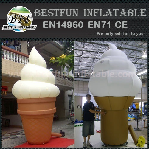Large inflatable ice cream cones model for sale