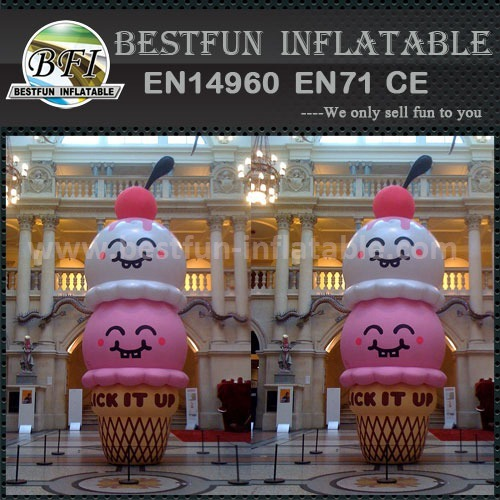 Giant outdoor advertising inflatable ice cream model
