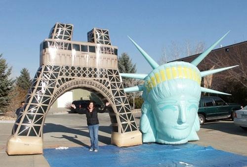 Scenic spot inflatable replica model