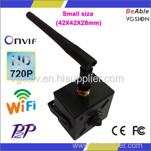 1.0MP pinhole lens Miniature IP WIFI Camera