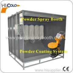 manual powder spray booth price