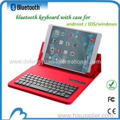 Slim Rechargeable Tablet Bluetooth Keyboard Case for 9.7-10 inches IOS ANDROID WINDOWS