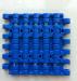 12.7'' pitch MQNB rubber top straight run modular conveyor belt