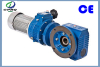 SA87 hollow shaft worm gearbox with 7.5kw motor