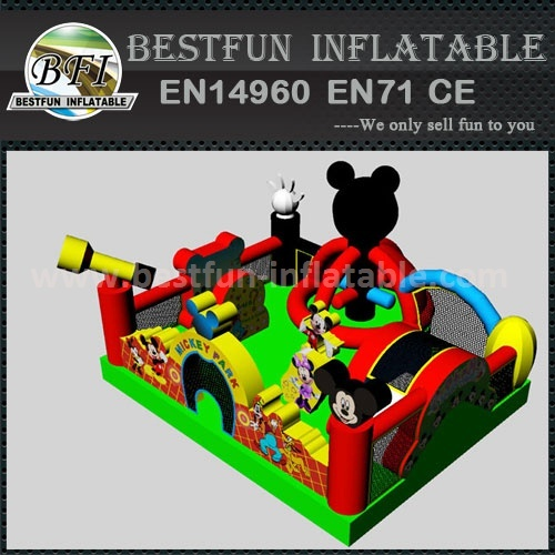 Classical Mickey Mouse Inflatable Obstacle Course