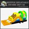 EN14960 new designed inflatable slide obstacle course