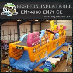 Inflatable Noah ark obstacle course