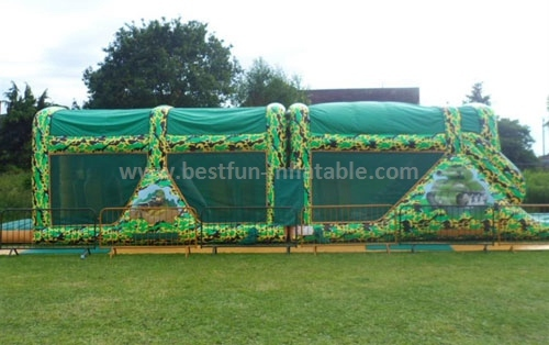 Attractive Children Amusing Inflatable Playground Obstacle Course