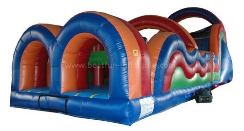 Kids lovely inflatable obstacle course for sale