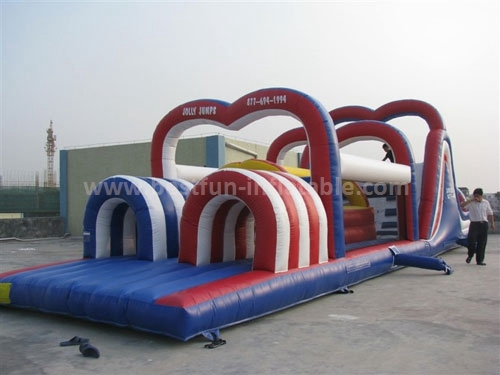 New Challenge Commercial Chaos Inflatable Assault n Obstacle Courses